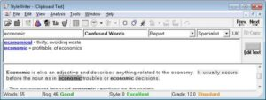 Confused Words - Economic and Economical by Software for Writers